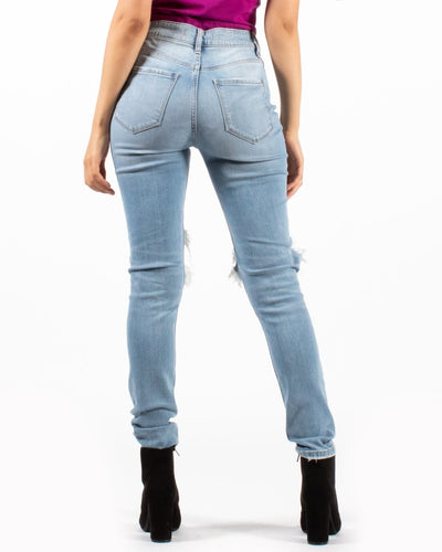High Rise Skinny Ankle Distressed Jeans