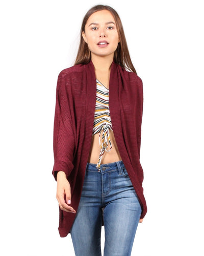 House Of Spades Cardigan S / Burgundy