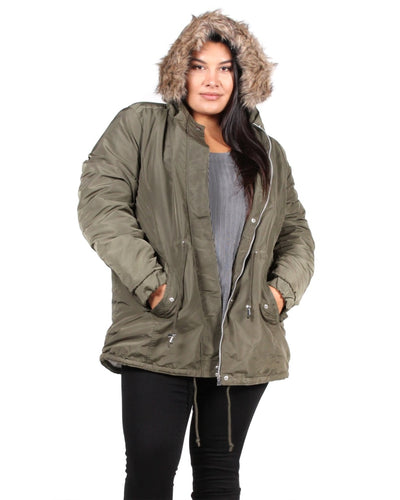 Hypnotize You Plus Jacket 1X / Army Green
