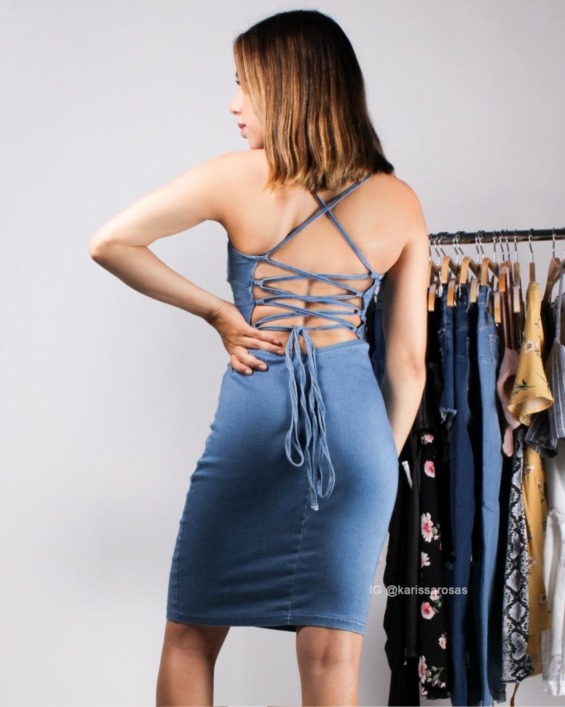 I Do Cherish You Denim Bodycon Dress Dresses