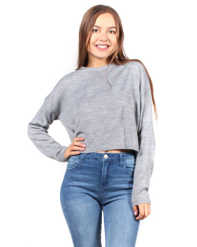I Wish Everyday Was Fall Sweater S / Heather Grey Tops