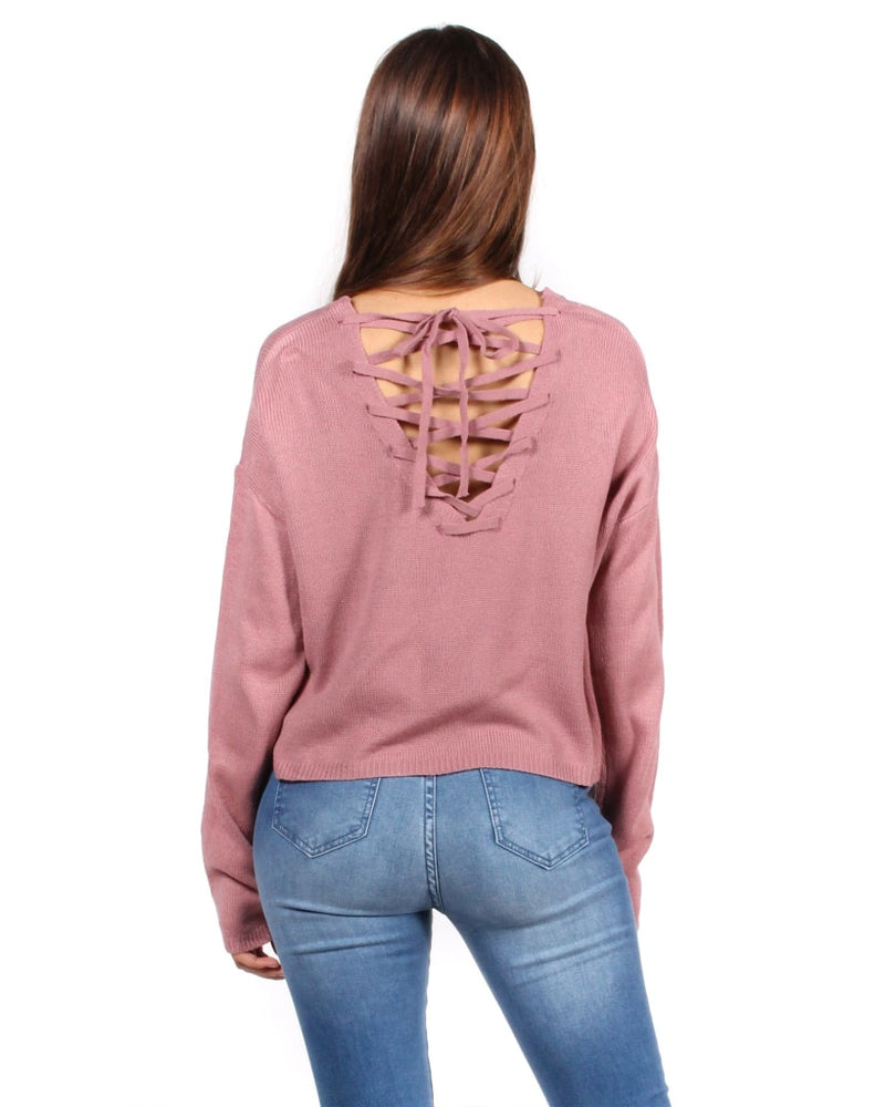 I Wish Everyday Was Fall Sweater S / Lilac Tops