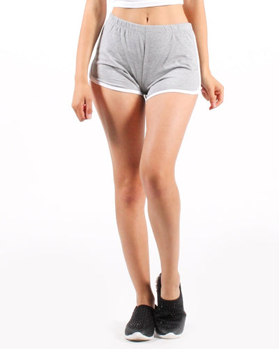 I Wont Give Up Dolphin Shorts S / Heather Grey