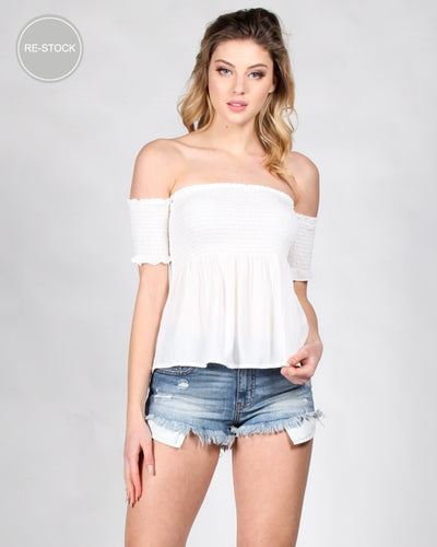 If It Makes You Happy Boho Top Off White / S Tops