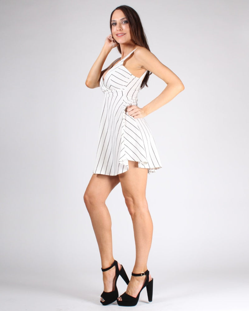 In The Stripe Of Things Dress S / White