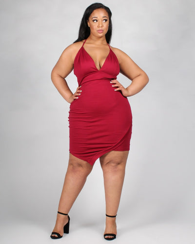 Irresistibly You Plus Dress 1X / Red Dresses