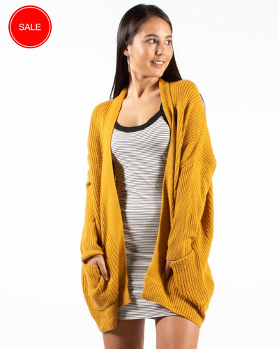 Its A Beautiful Day To Be In The Neighborhood Cardigan S/m / Mustard