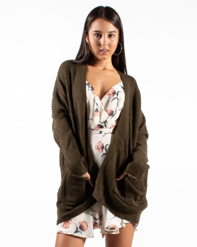 Its A Beautiful Day To Be In The Neighborhood Cardigan S/m / Olive