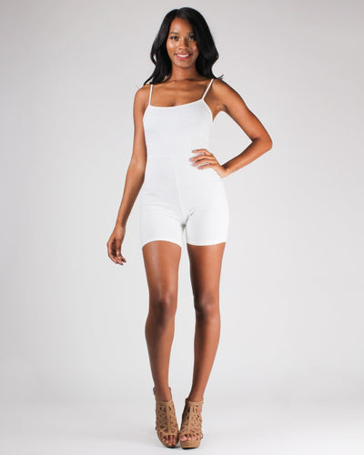 Its All Good Romper S / White