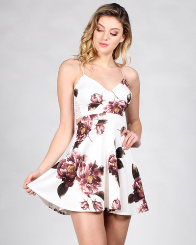 Its Going To Be Love Floral Dress S / Ivory Dresses