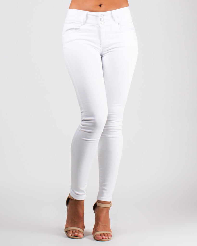 Journey Is The Destination Skinny Jeans White / 0 Bottoms