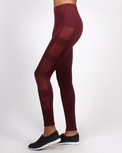 Keep Going Yoga Pants S / Merlot Bottoms
