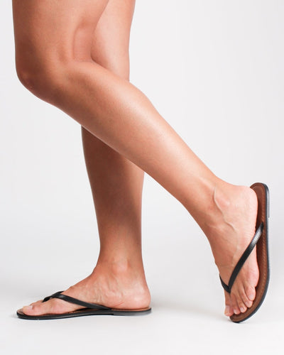 Key West Thong Sandals Black / 5 1/2 Shoes