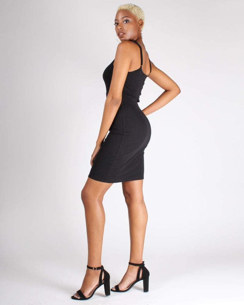 Know Your Worth Bodycon Dress S / Black Dresses