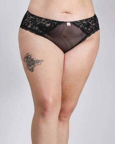 Lace Everything In Love Plus Panties Black / 1X Intimates