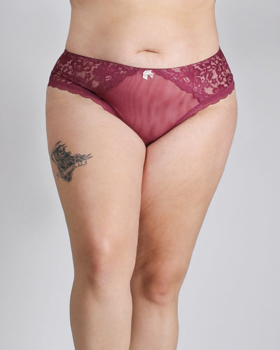 Lace Everything In Love Plus Panties Plum / 1X Intimates