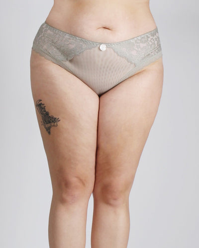 Lace Everything In Love Plus Panties Sage / 1X Intimates