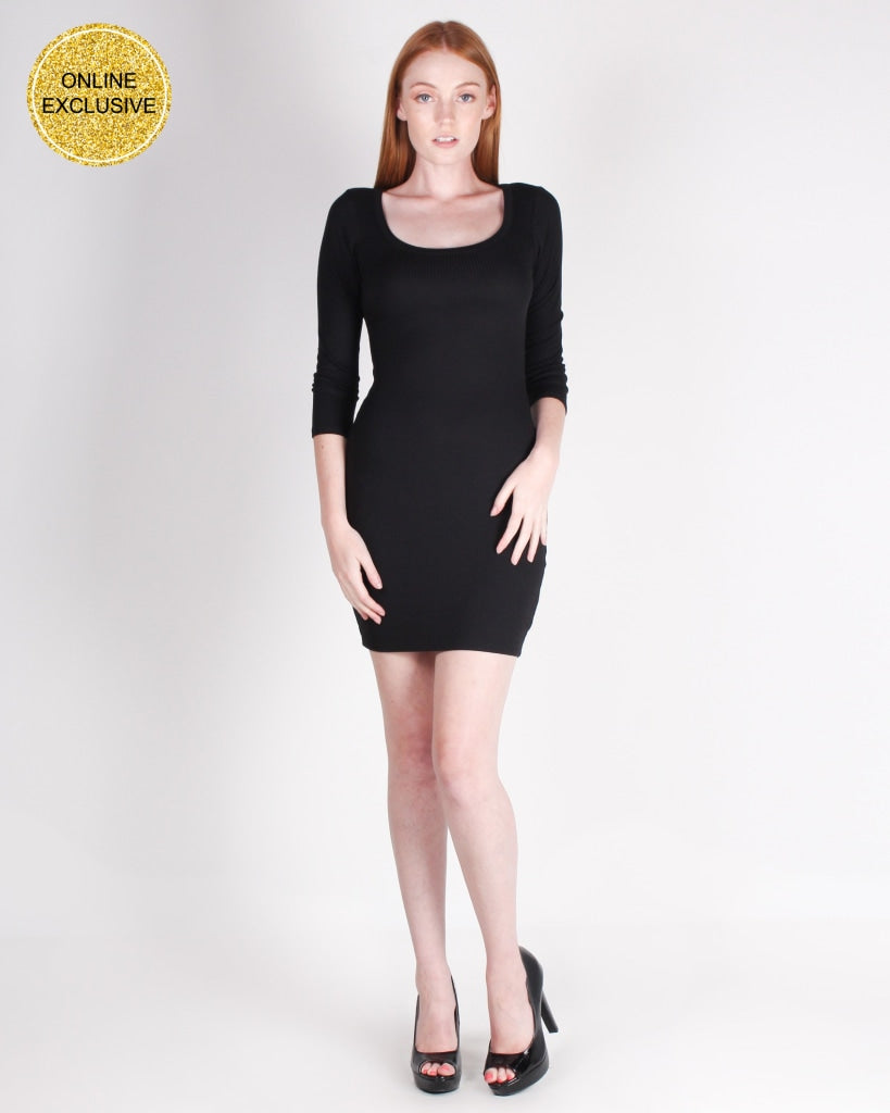 Laughing Is Contagious Bodycon Dress (Black) Black / S Dresses