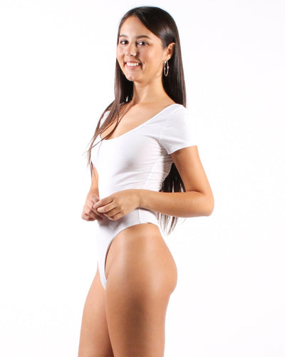 Lean On Me Bodysuit S / White