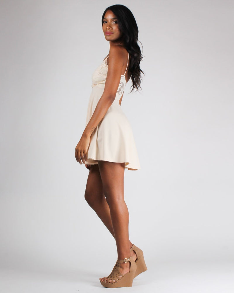 Lift Me Up Dress S / Cream Dresses