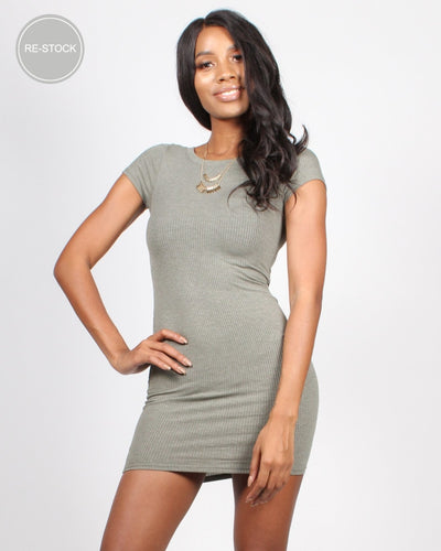 Little Things In Life Bodycon Dress S / Army Dresses