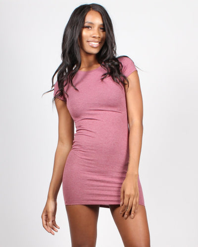 Little Things In Life Bodycon Dress S / Mauve Dresses