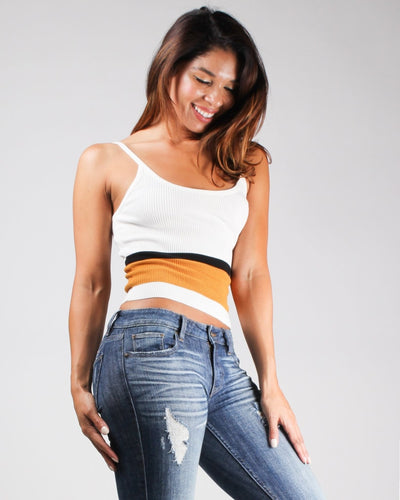 Live Life With A Pop Of Color Crop Top Top