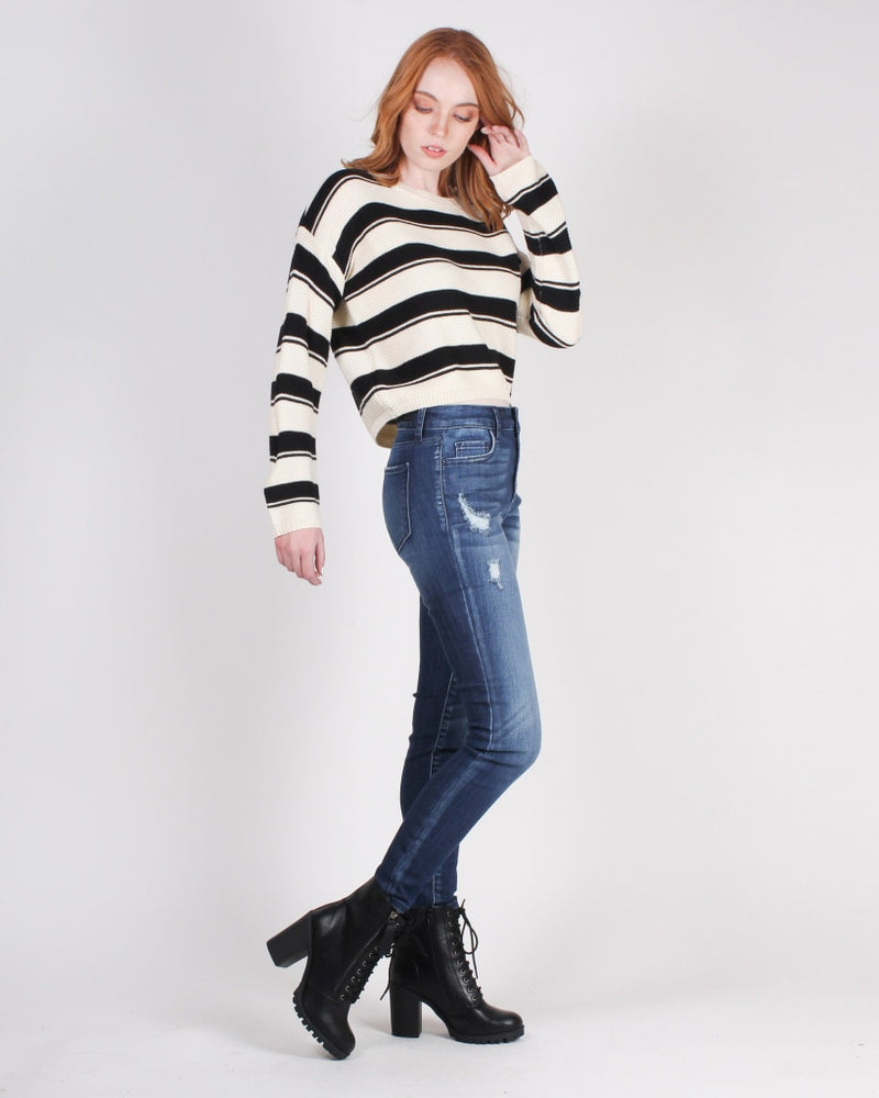 Lose Yourself In Adventure Skinny Jeans (Dark Wash) Dark Wash / 1 Bottoms