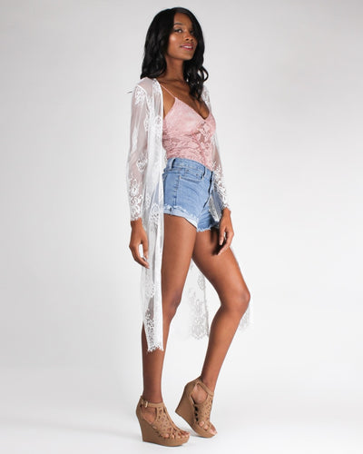 Lost In Your Lacing Arms Cardigan Top