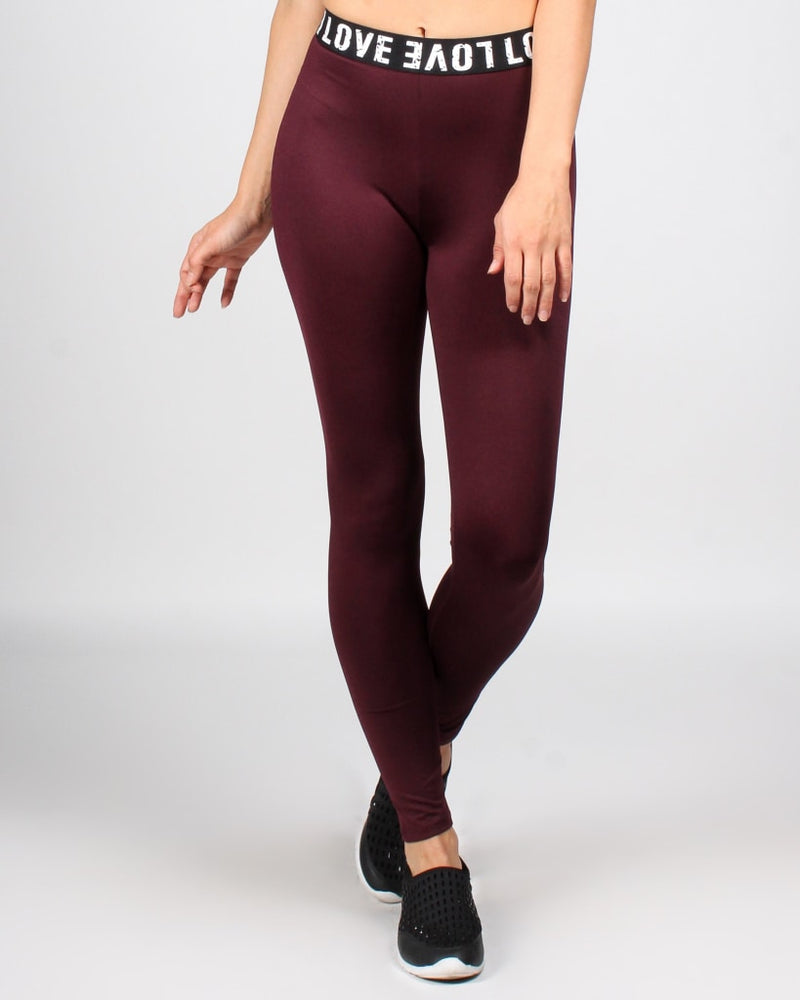 Love Actually Yoga Pants S / Maroon