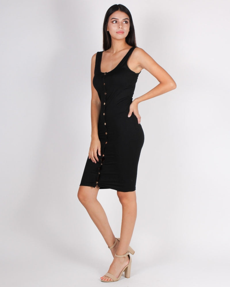 Love And Madness Bodycon Dress (Black) Black / S Dresses