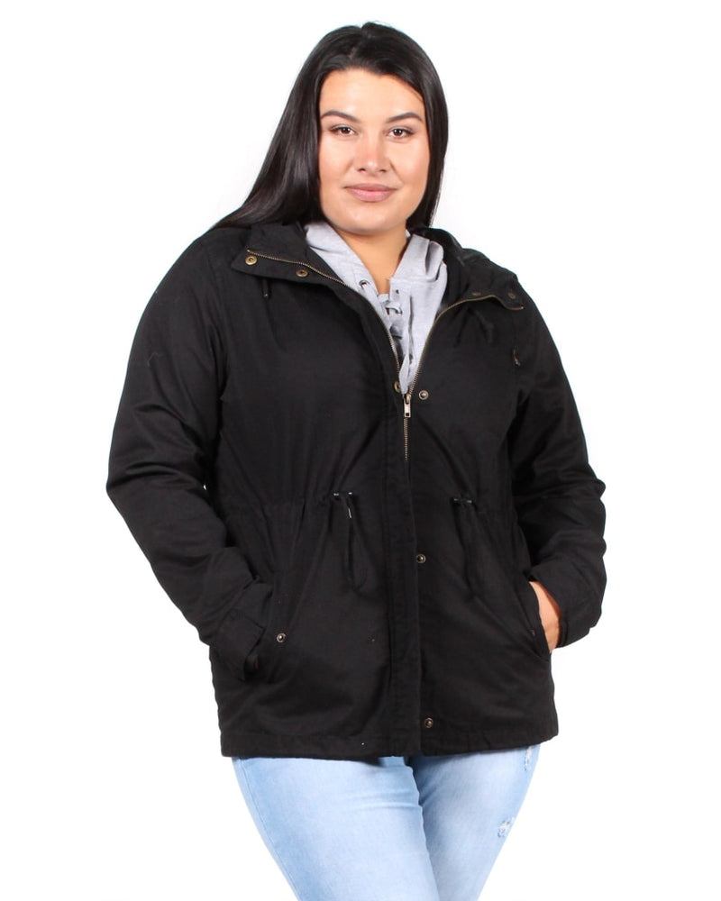 Love The Way You Look Parka Plus Jacket 1X / Black