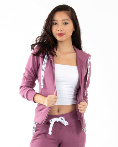 Love Zip Up Jacket S / Mauve Outerwear