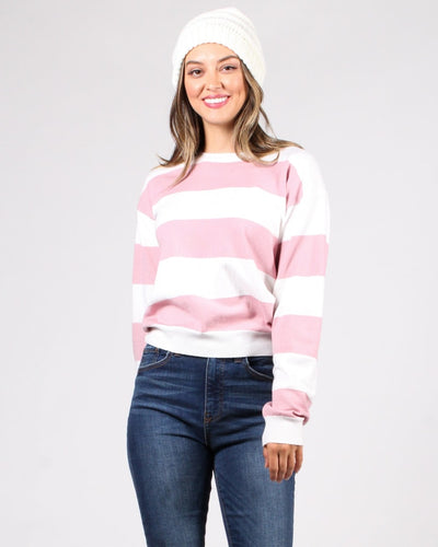 Make A Wish Striped Sweater S / Blush And Ivory