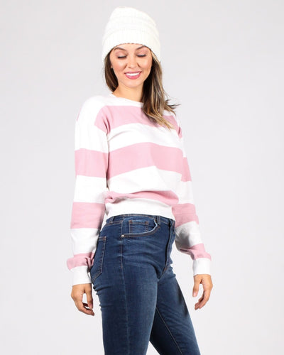 Make A Wish Striped Sweater