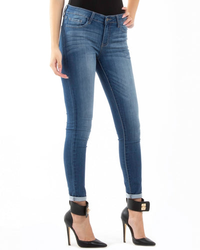 Mesmerized Mid-Rise Skinny Jeans Bottoms