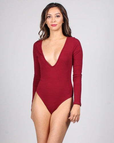 Million Dollar Assets Bodysuit S / Ruby