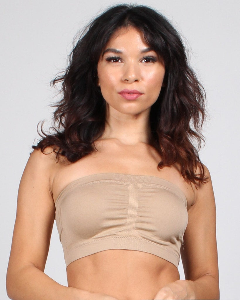 Miss Me Bandeau Bralette One / Beige Intimates