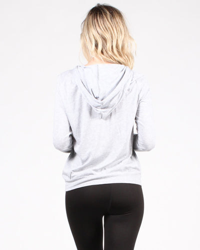 Move Your Body Hooded Long Sleeve Shirt Tops