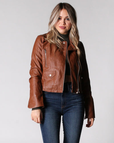 Must Have Moto Jacket S / Camel