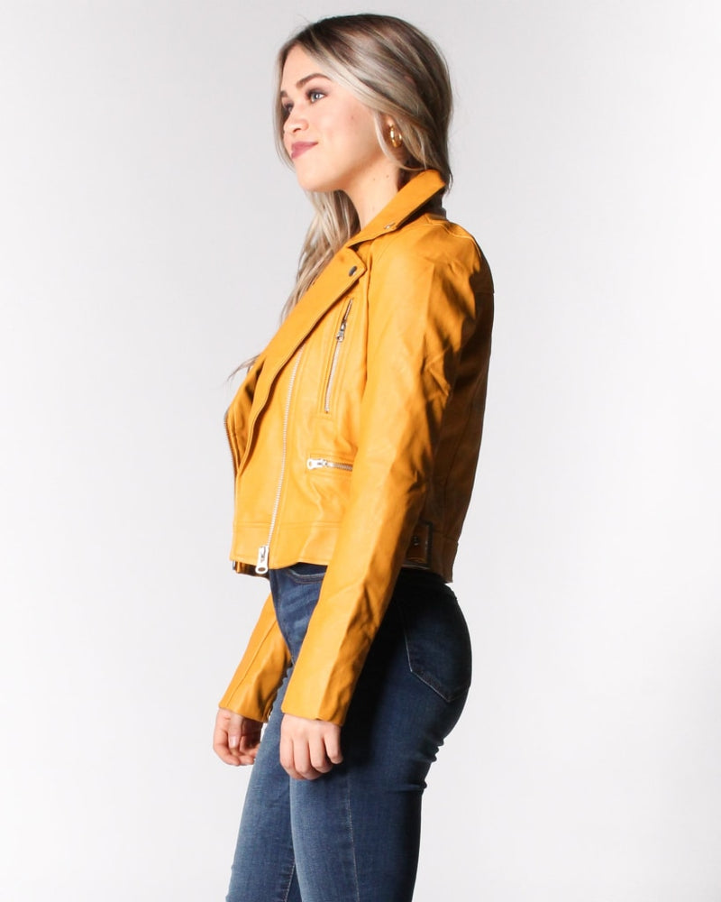 Must Have Moto Jacket S / Bright Mustard