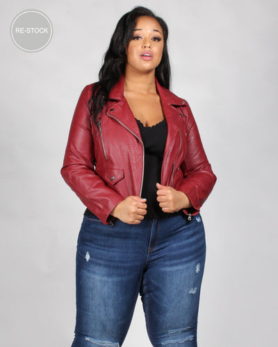 Must Have Moto Plus Jacket 1X / Oxblood Outerwear