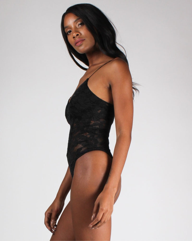 My Happy Lace Bodysuit S / Black