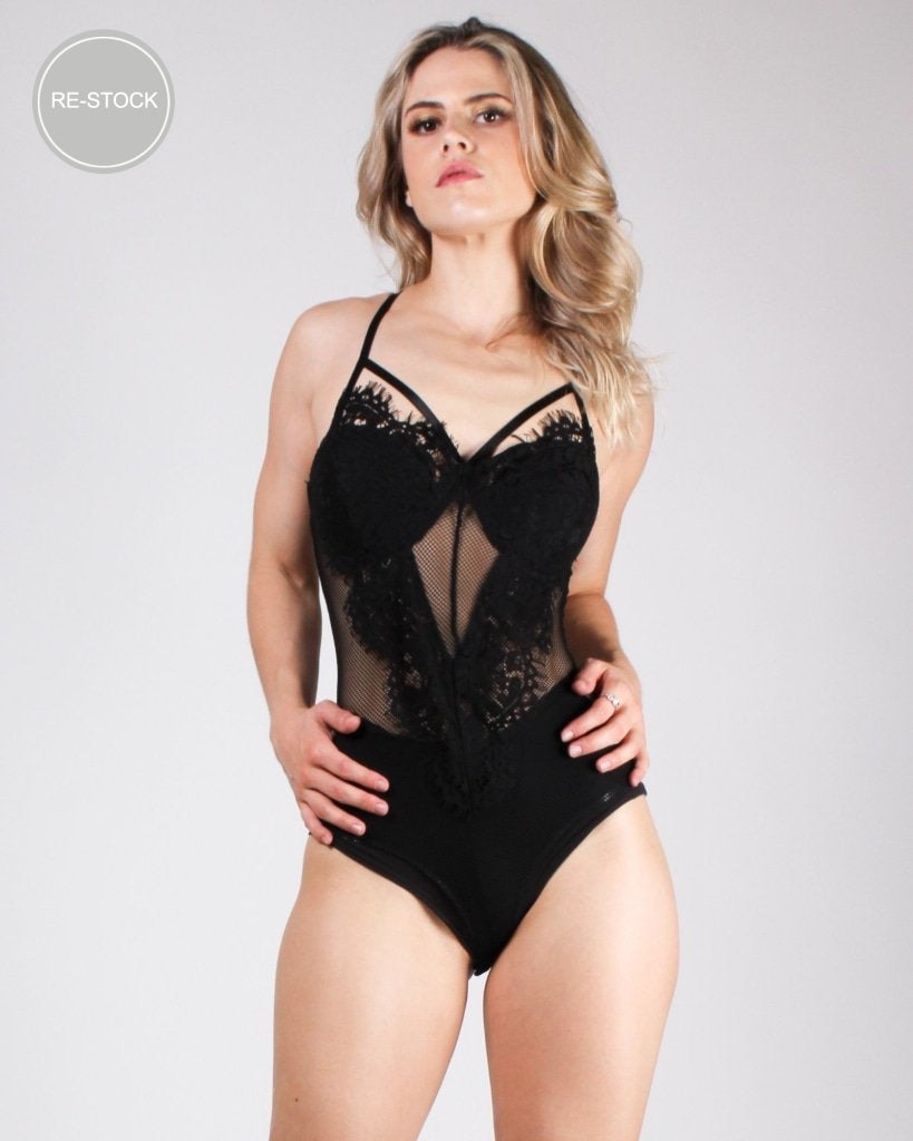My Heart Chose You Bodysuit (Black) Black / S