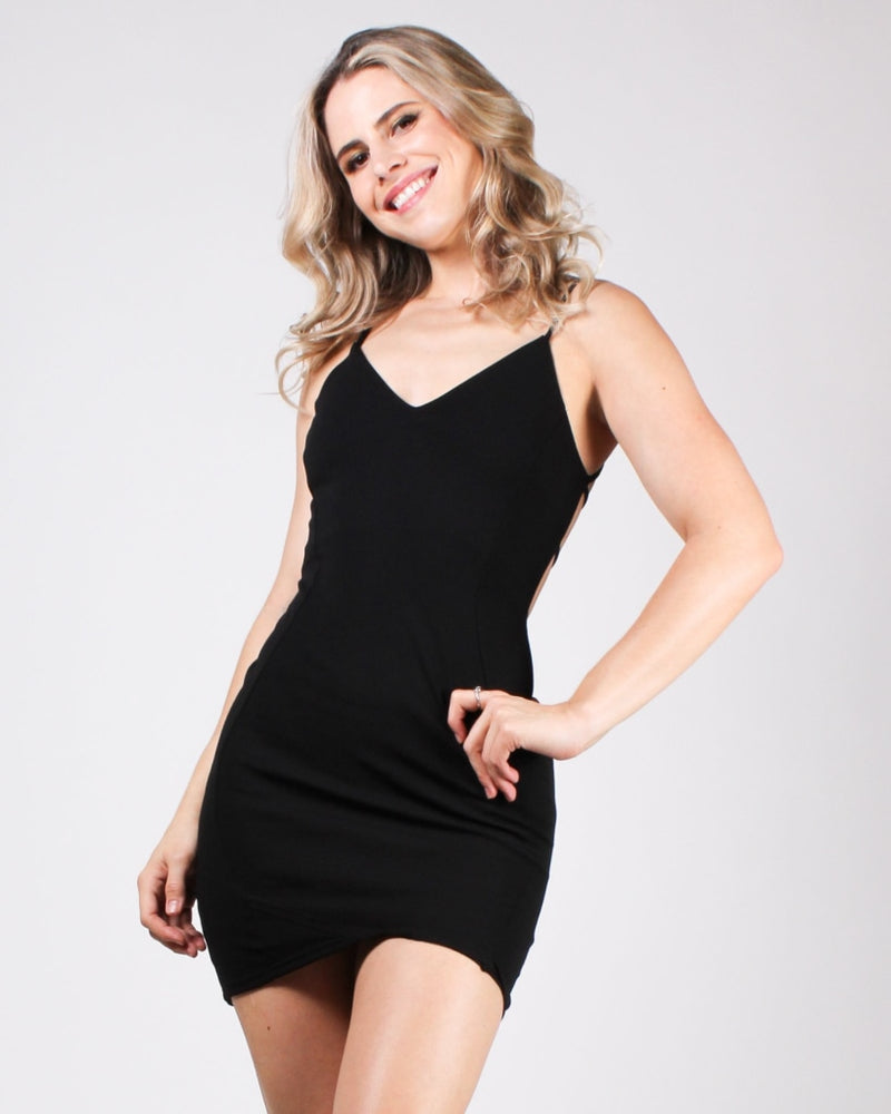 Namaslay Bodycon Dress Black / S Dresses