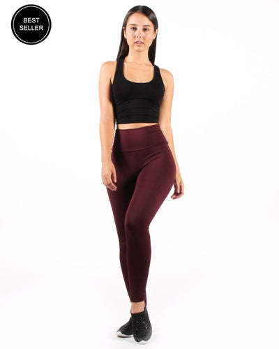 Namaste Yoga Pants S / Burgundy Bottoms