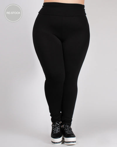 Namaste Yoga Plus Pants 1X / Black Bottoms