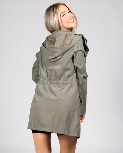 Never Fear Style Is Here Drawstring Jacket Outerwear