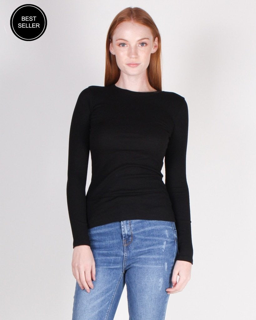 Never Fear Style Is Here Long Sleeve Top (Black) Black / S Tops