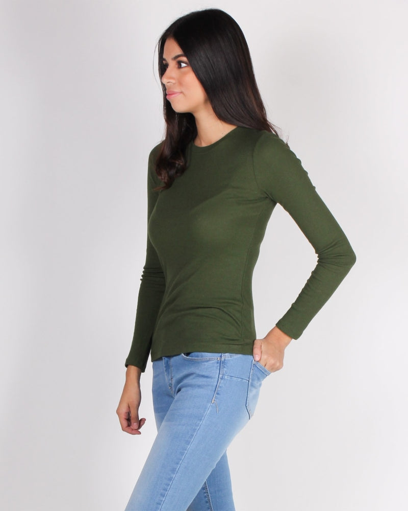Never Fear Style Is Here Long Sleeve Top (Burnt Olive) Burnt Olive / S Tops